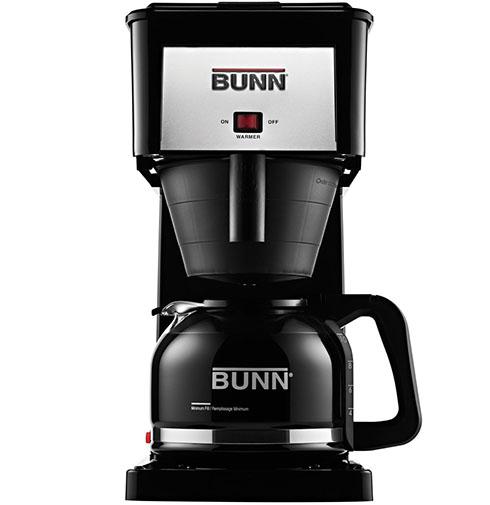 7.BUNN GRB Velocity Brew 10-Cup Home Coffee Brewer, Black