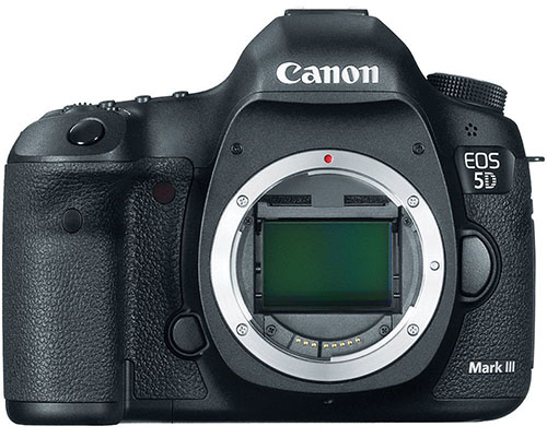 6. Canon EOS 5D Mark III 22.3 MP Full Frame CMOS with 1080p Full-HD Video Mode Digital SLR Camera Body