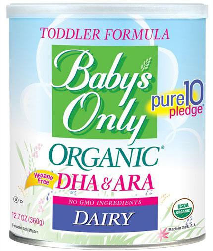 1. Organic Dairy with DHA & ARA Formula