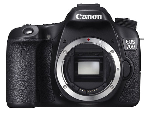 6. Canon EOS 70D Digital SLR Camera (Body Only)