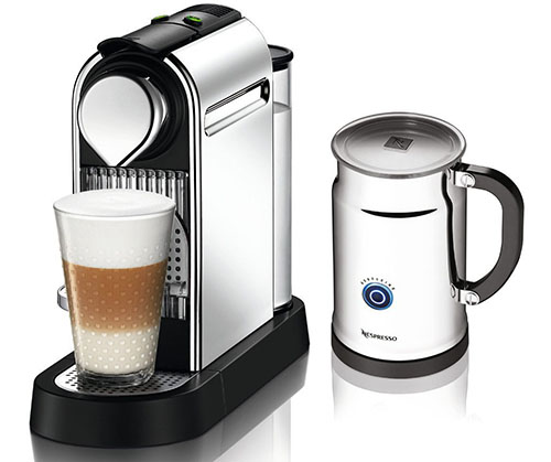 5. Nespresso Citiz C111 Espresso Maker with Aeroccino Plus Milk Frother