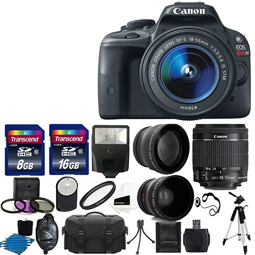 4. Canon EOS Rebel SL1 18.0 MP CMOS Digital SLR Full HD 1080 Video Body with EF-S 18-55mm Complete Deluxe Accessory Bundle