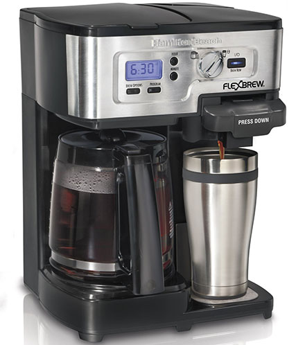 5.Hamilton Beach FlexBrew 49983A Single Serve / Full Pot Coffee Maker