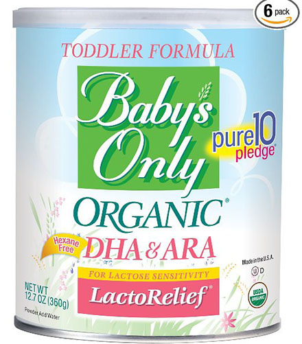 6. Organic LactoRelief with DHA&ARA