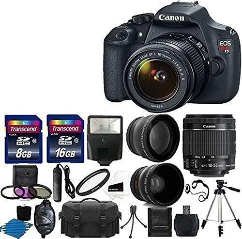 1. Canon EOS Rebel T5 DSLR Digital Camera