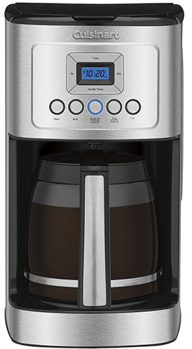 2.Cuisinart DCC-3200 Perfect Temp 14-Cup Programmable Coffeemaker, Stainless Steel