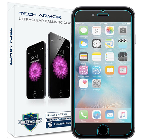 1. iPhone 6S Plus Glass Screen Protector, Tech Armor