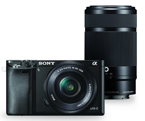 3. Sony Alpha a6000 Mirrorless Digital Camera With 16-50mm and 55-210mm Power Zoom Lens