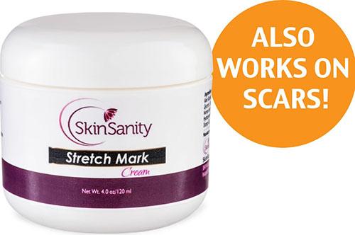 7. Skin Sanity Moisturizing Stretch Mark Cream for Men/Women