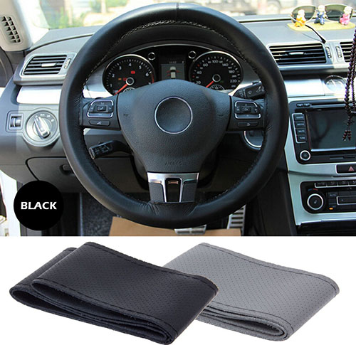 3. Anti Slip Leather Car Steering Wheel