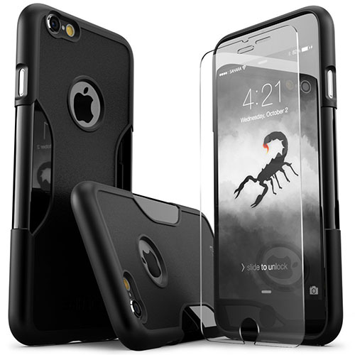 1. iPhone 6 Plus Case, Black Rugged