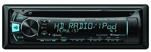 2. Kenwood CD Receiver with Built-in HD Radio
