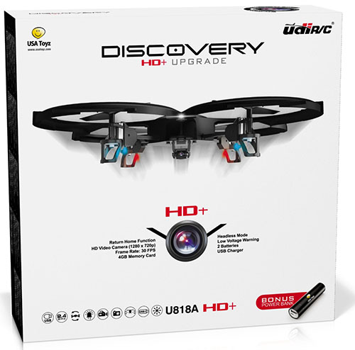 2. UDI HD+ RC Quadcopter Drone with HD Camera