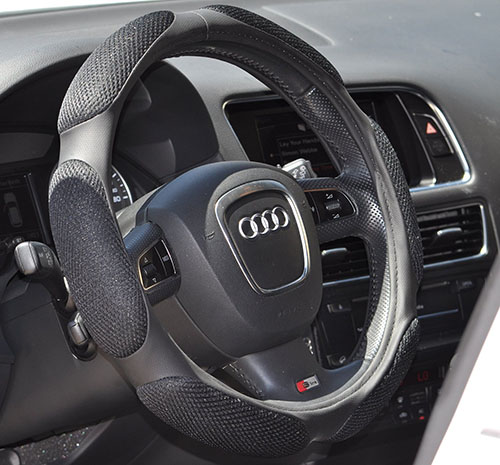 2. Steering Wheel Cover - Black