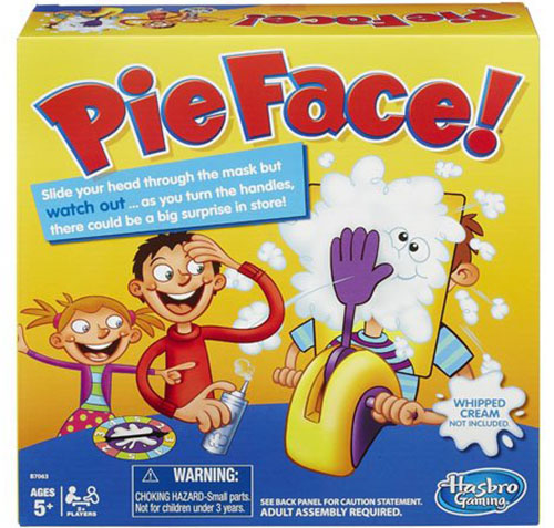 1. Hasbro Pie Face Game