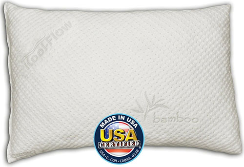 4. Memory Foam Pillow w/ Micro-Vented Cover