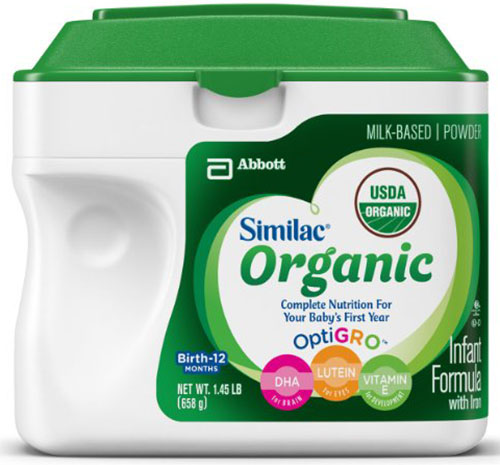 4. Organic Infant Formula with Iron