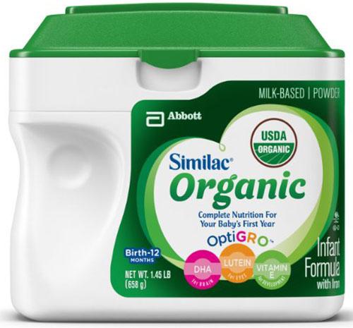 4. Organic Infant Formula with Iron