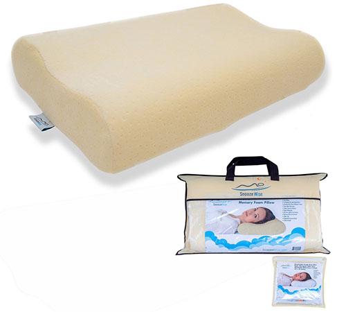 7. SnoozeWise Memory Foam Contour Pillow