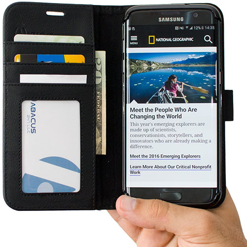 4. Abacus24-7 Galaxy S7 Edge Wallet Case
