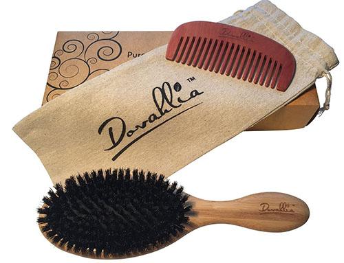 6. Boar Bristle Hair Brush Set