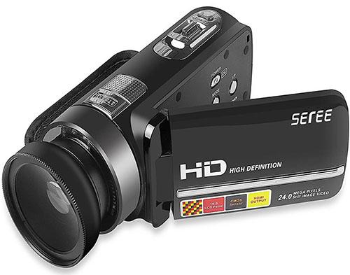 6. Sereer 1080P Digital Video Camera Camcorder