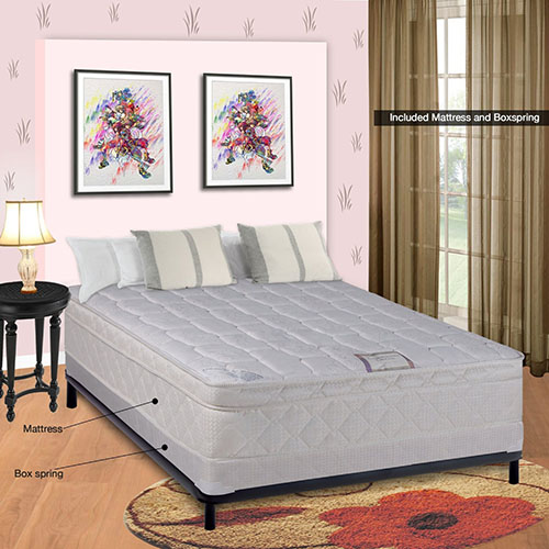7. Spinal Solution Pillow top Fully Assembled Orthopedic Mattress