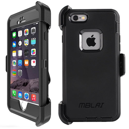 4. iPhone 6 Case 4 Layer Cover Built-in Screen Protector