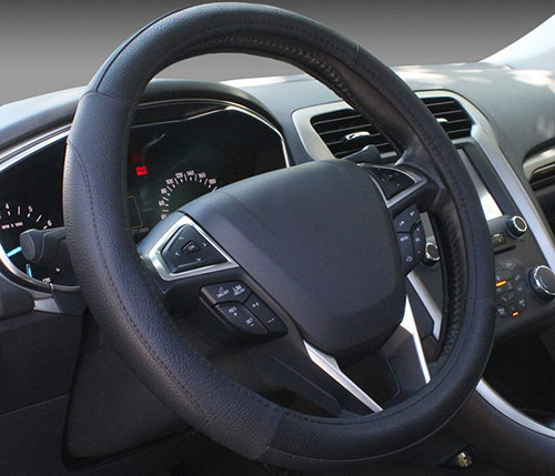 6. Leather Auto Car Steering Wheel Cover