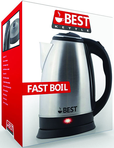 1. Best Electric Kettle with Brushed Nickel Stainless Steel