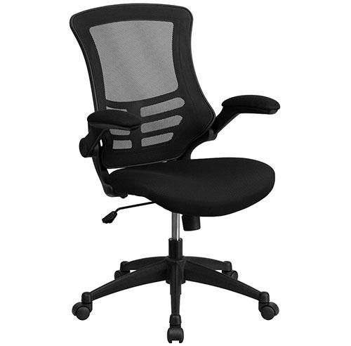 1. Mid-Back Black Mesh Swivel Task Chair