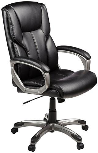 3. AmazonBasics High-Back Executive Chair