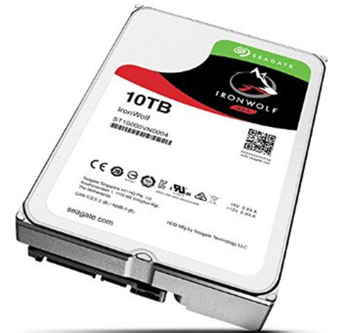 5. Seagate 10TB IronWolf Internal Hard Drive